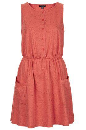 Button Through Pocket Dress - top shop
