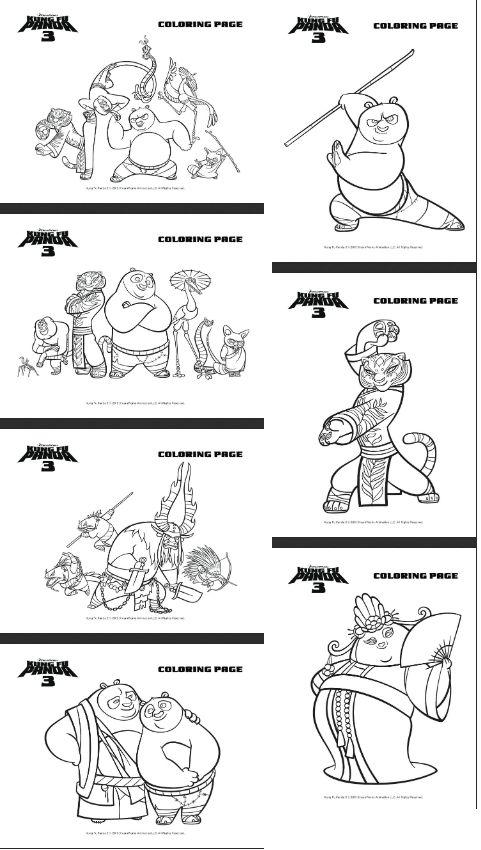 7 Coloring pages http thriftyjinxykungfupanda