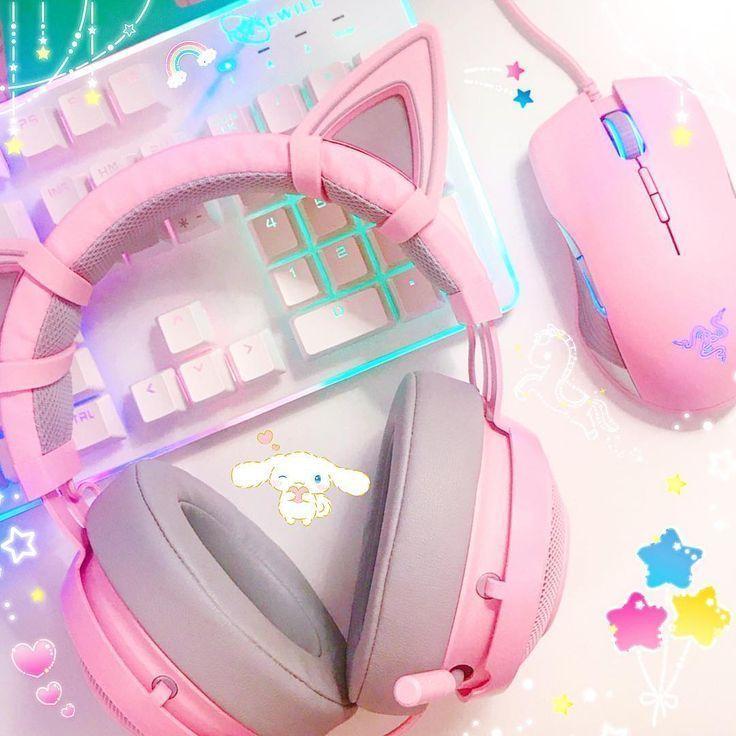 Verliebt in diese Razer Quarz-Kopfhörer und -Maus hat Herr Pokepixie mich für