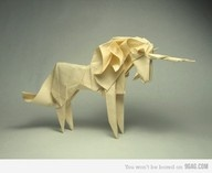 Origami: Romans, Papercraft, Paper Unicorns, Paper Art, Unicorns Origami, Origami Unicorns, Blade Runners, The Last Unicorns, Paper Crafts