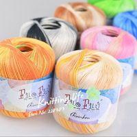 Filo filu merk mode katoenen garen lange ruimte kleurstof voor haken, 6 ballen 300g/lot, gratis verzending