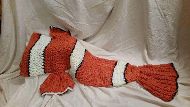 Crochet Clown Fish Cocoon Lap Blanket by HookedonEden on Etsy