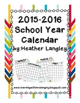 FREEBIE! Monthly Calendar with IB Attitudes These calendars are used as a school to home communication tool. I send these home daily in the students homework folders and children earn a stamp each day they show super behavior.
