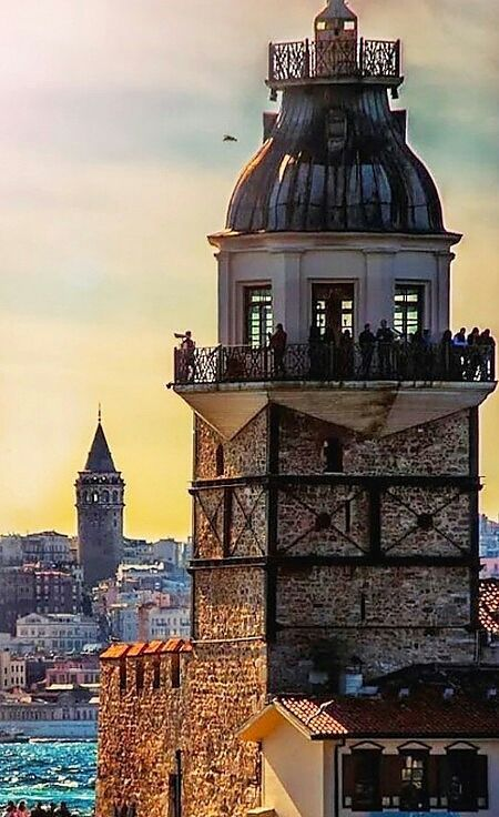 Maiden's & Galata Towers, Istanbul.