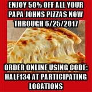 Call or order online today #arkansas #pizza #papajohns