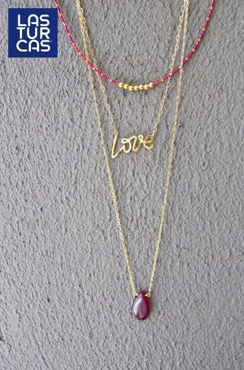 Collar Triple Love, todo lo que nos gusta reunido en una pieza #LTurcas #Accesorios #Collares