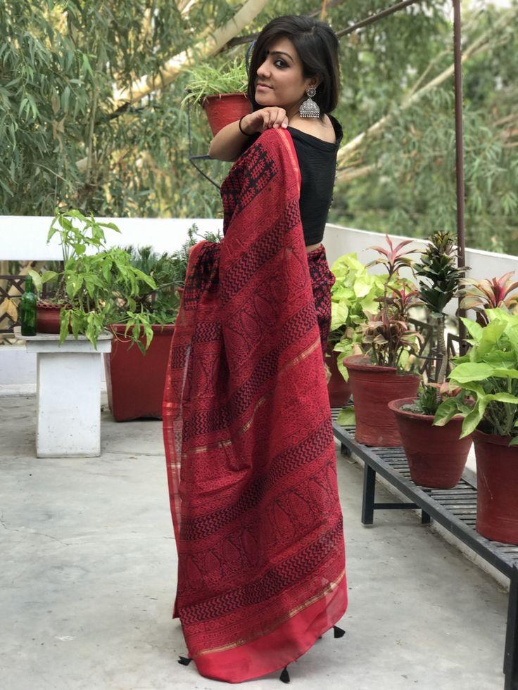 Chanderi bagh sari..handloom love