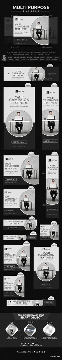 Multi Purpose Banners | Download: http://graphicriver.net/item/multi-purpose-banners/10218188?ref=ksioks