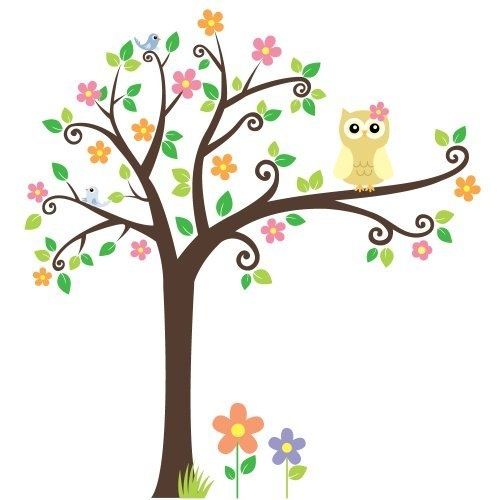 1000 images about wall murals on pinterest birds for Bird and owl tree wall mural set