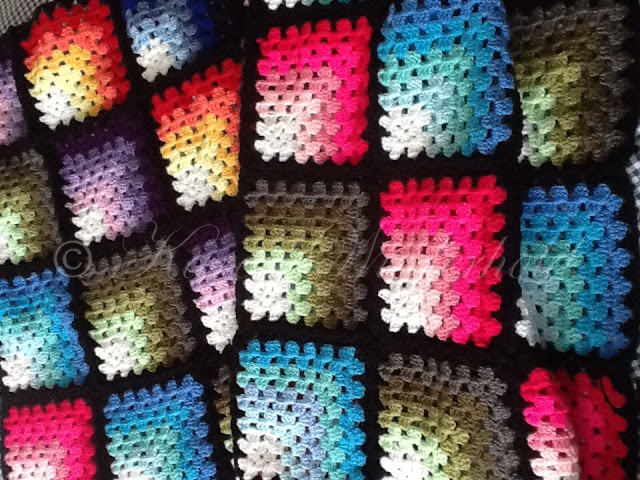 Mitred Granny Square Blanket - Free Crochet Pattern with video to show the join as you go assembling method