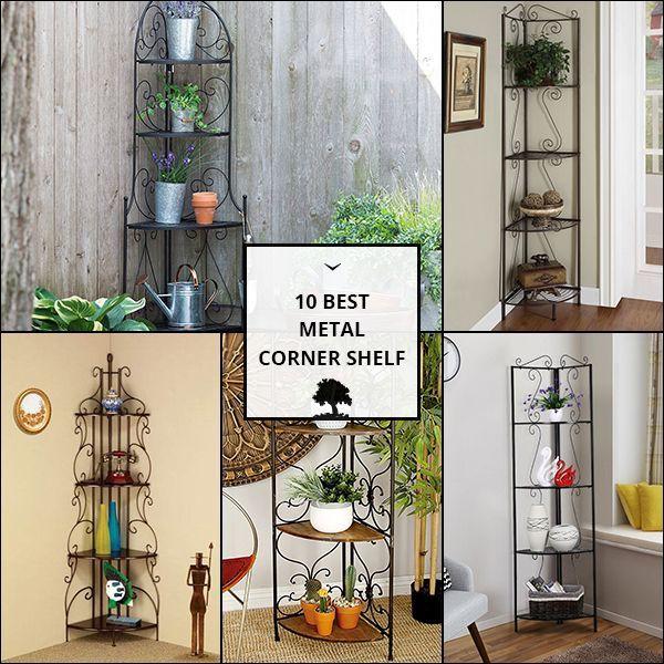 Metal Corner Shelf Corner Shelves Shelves Metal Shelves