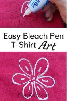 Bleichfärbung! Lerne, wie man T-Shirts mit Jeansjacken aus Denim dekoriert …   – Fabric Crafts