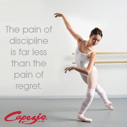 The pain of discipline is far less than the pain of regret.