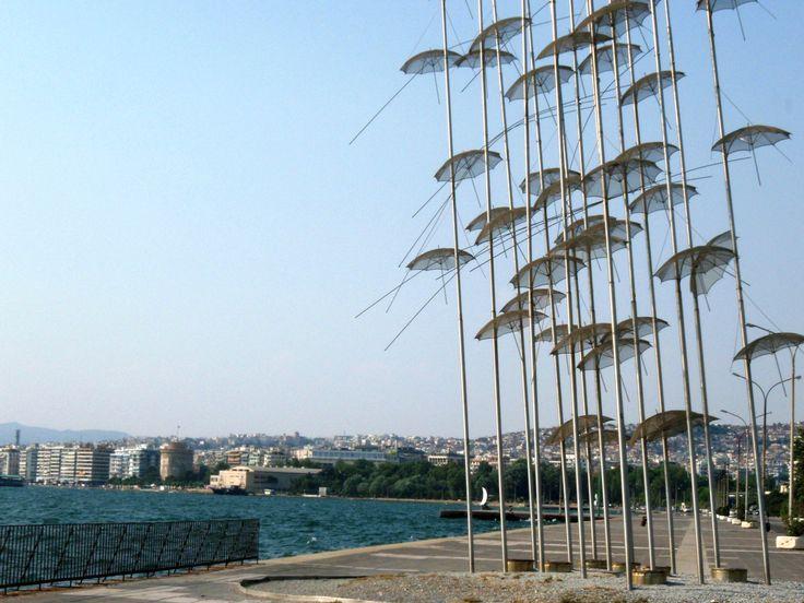 Umbrellas at Thessaloniki's promenade