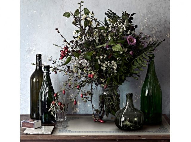 Deco table automne fleurs