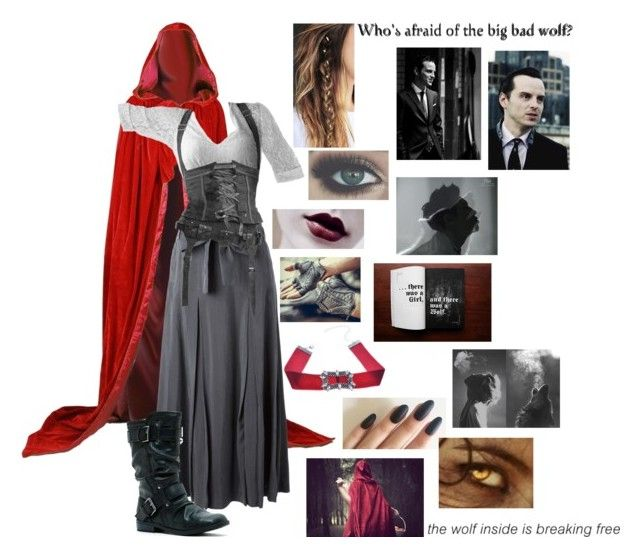 """Red Riding Hood x Sherlock // Jim Moriarty"" by somenormalpanda ❤ liked on Polyvore featuring Creatures of the Wind, Report and WithChic"