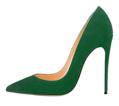 Guoar High Heels Damenchuhe Große Größe Pumps Einfach Stil Spitze Zehen Hand gemacht Stiletto Büro-Dame Party Hochzeit Dunkelgrün EU44 - http://on-line-kaufen.de/guoar/44-29-9cm-guoar-high-heels-damenchuhe-grosse-pumps