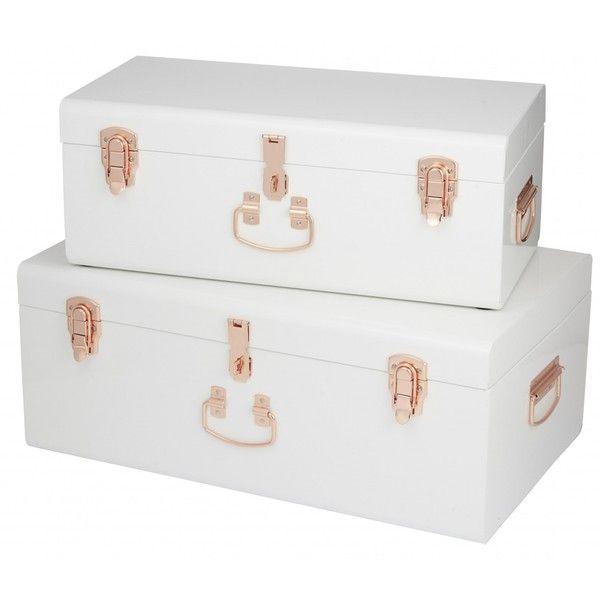 Sydney Trunks White / Copper Set / 2 ($ 230) ❤ gefällt auf Polyvore mit nach Hause, ho …