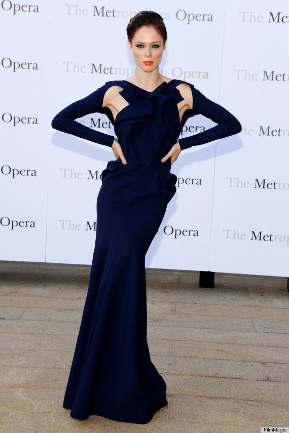 Coco Rocha looking beyond gorgeous in Greta Constantine.