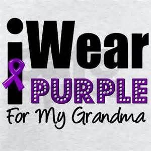 purple ribbon alzheimer grandma - Bing Images