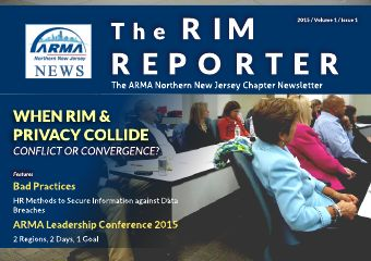 ARMA NNJ Newsletter September 2015
