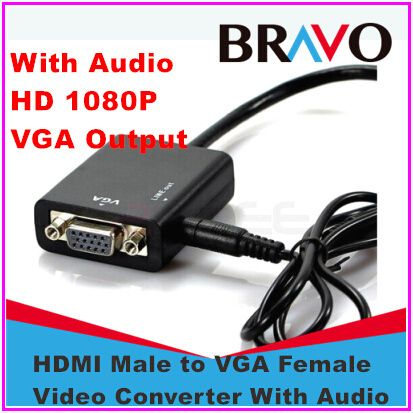 Micro HDMI to VGA with Audio Cable Micro HDMI to VGA Converter Adapter for Xbox 360 For PS3 for PS4 PC DVD