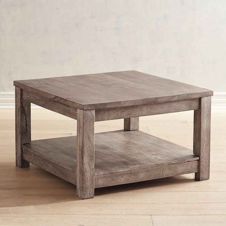 Parsons Truffle Gray Square Coffee Table | Pier 1 Imports ...