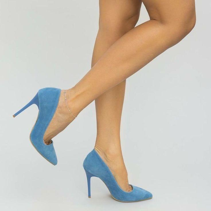 Pantofi Bugy Albastri Pret: 109.00 Lei - https://goo.gl/vP1VUh #cutoc #pantoficutoc