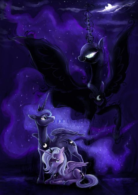 The many faces of Princess Luna