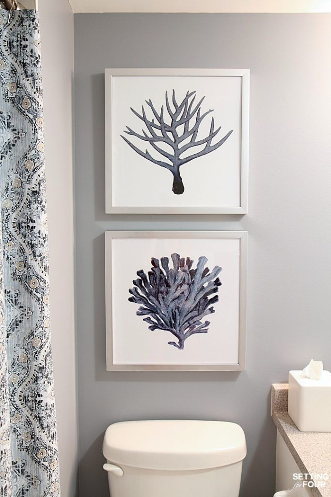 Height Measurements And How To Hang Pictures In A Bathroom Pictures For Bathroom Walls Bathroom Wall Hanging Bathroom Pictures
