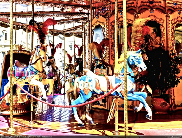 surreal carousel