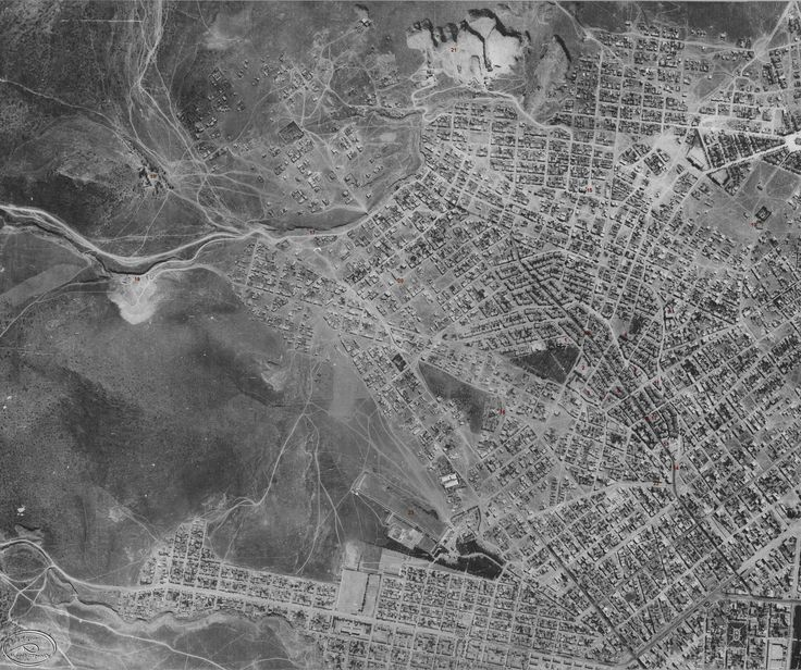 Αεροφωτογραφία του Βύρωνα (1939).