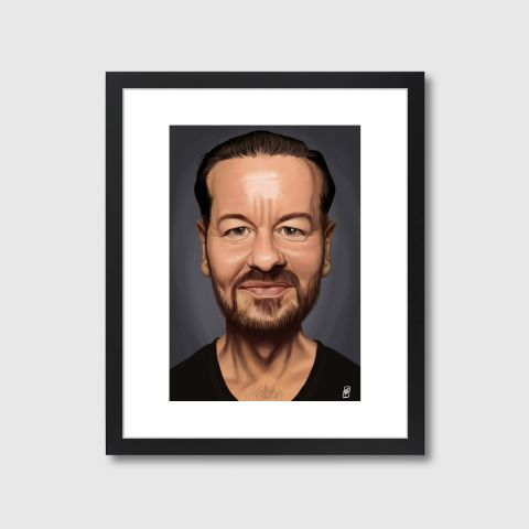 Celebrity Sunday - Ricky Gervais | Monde Mosaic art | decor | wall art | inspiration | caricatures | home decor | idea | humor | gifts
