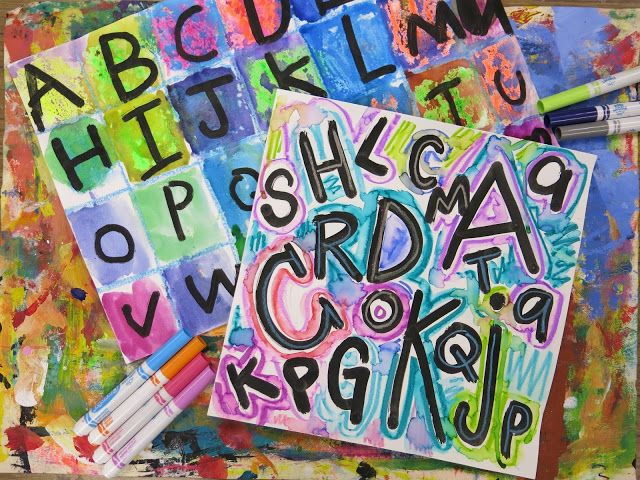 Hello, friends! If you saw my post earlier this week, I said I'd be sharing a follow-up lesson to our Jasper Johns-inspired alphabet paintings. Here's a peak at that project:  And the video lesson! I