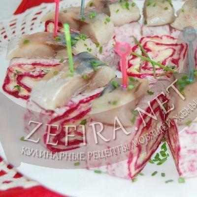 Рулеты из лаваша с селедкой и вареными овощами-домашние рецепты с фото