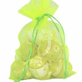 Set 12 oua decorate cu floricele