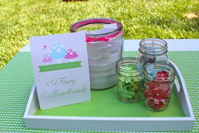 Make a fairy headband at this fairy birthday party! | CatchMyParty.com
