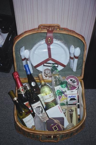 Wine and Picnic Gift Basket      If your guy likes getting out and enjoying the outdoors, why not choose this wine and picnic DIY basket? Its a fun way to celebrate special moments together.