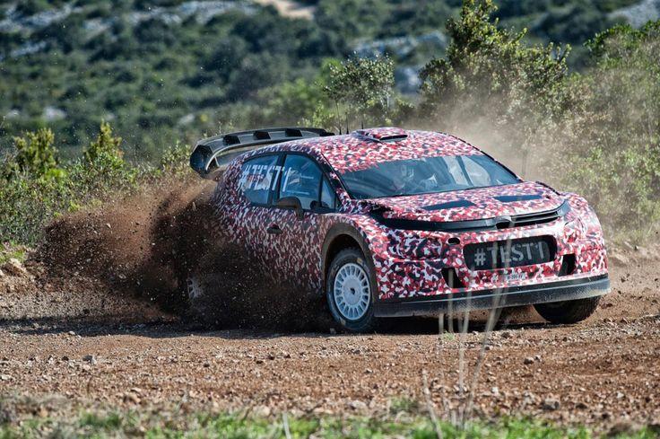 primera imagen oficial del nuevo Citroën C3 WRC con el que la marca volverá al WRC de 2017.