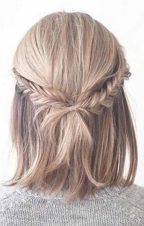 17 Einfache Hochsteckfrisuren für kurzes Haar