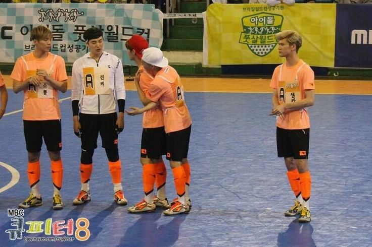 Luhan, Xiumin and Minho in MBC's Idol Futsal Championship Blog Update #1