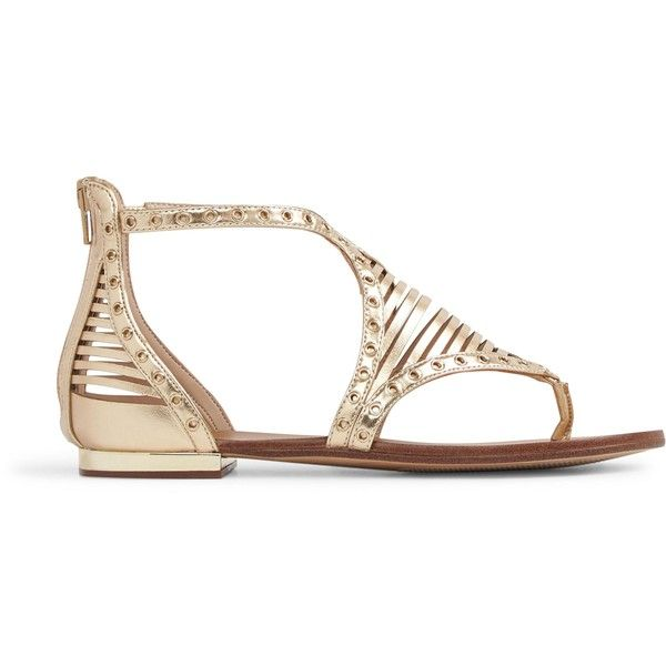 Aldo Xenna Gladiator Flat Sandal ($45) ❤ liked on Polyvore featuring shoes, sandals, aldo flats, open toe flats, gladiator flats sandals, flat gladiator sandals and flat heel sandals
