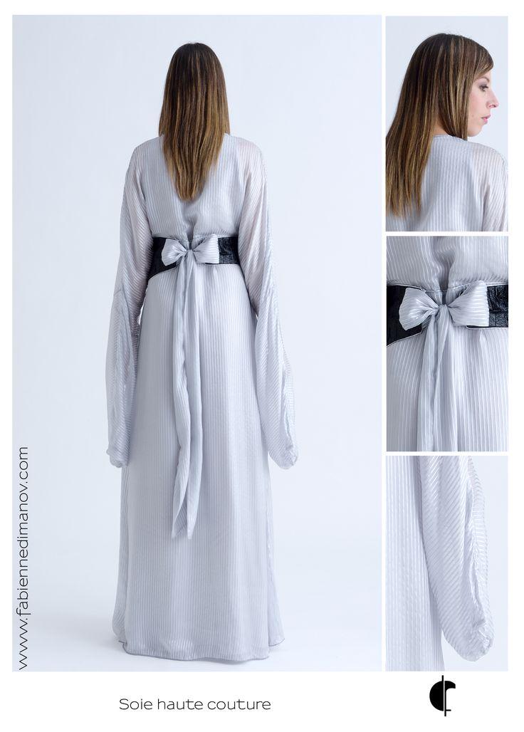 Robe de cérémonie, soie haute couture. #fabiennedimanov