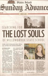 Willowbrook State School -- A Voice Behind the Wall: IN THE NEWS  Willowbrook was an awful example of how the mentally ill were treated.  A horror house here in New York City..  The TV series on the local news gave Geraldo Rivera his career.