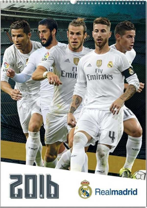Real Madrid Football Club 2016 Official A3 Calendar Calender