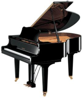 GB1 smallest Yamaha grand piano - 4'11'' (149 cm). Falls in category of Petite Grand. Price: $11,000-14,000 ($8,299 @ Costco :)