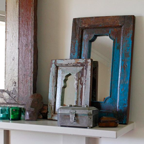 Varied Vintage Mirrors #mirror #vintage #furniture