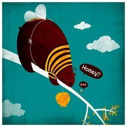 adaland.weebly.com #adaland #bee #bear #tree #illustration #honney