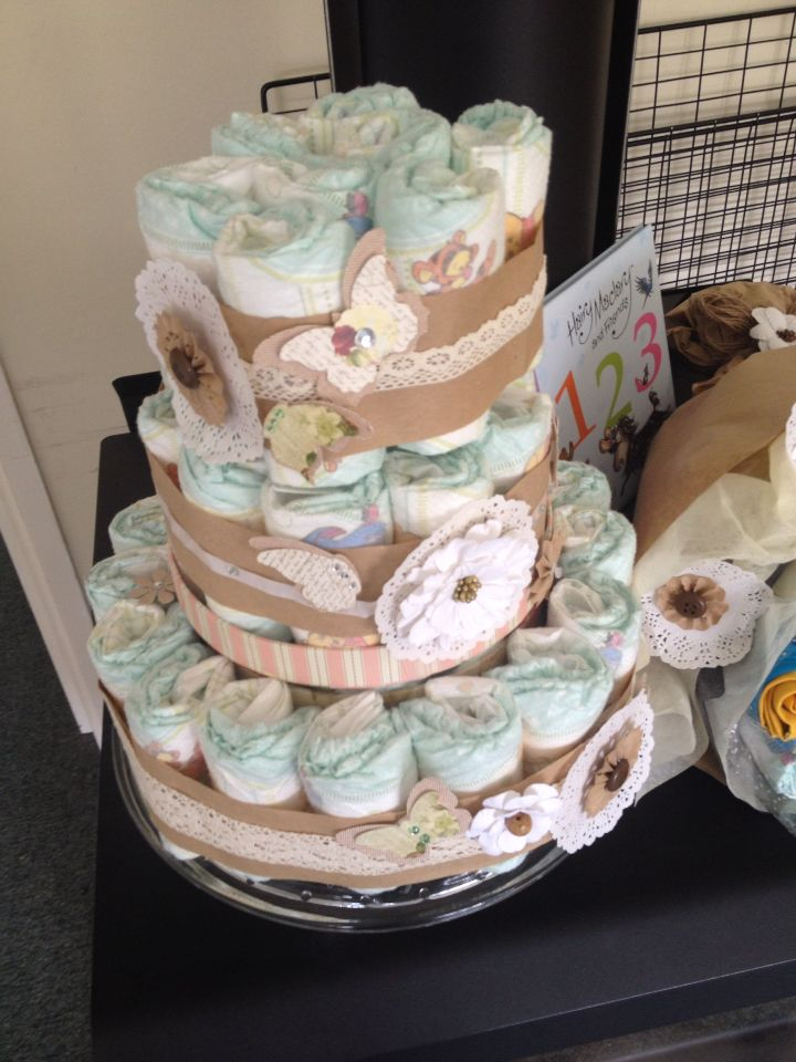 Diaper cake made by @smile4vh