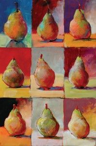 Robert Burridge demonstrates how to practice shapes, lighting and color by doing a basic still-life warm-up before a painting session.